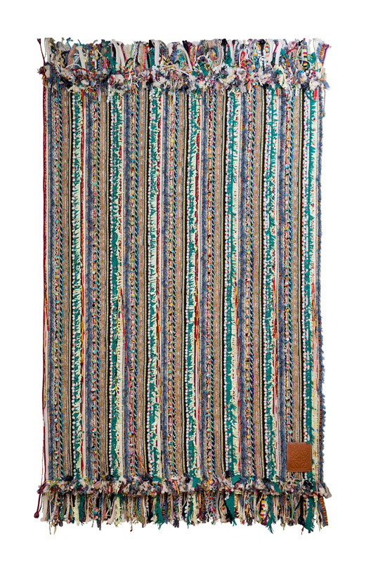 Blanket from India with ribbon embroidery