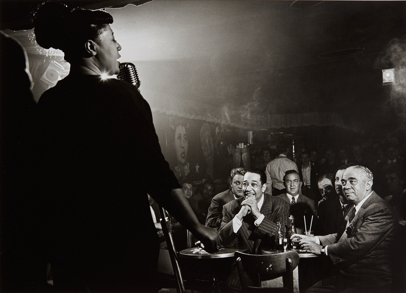 Herman Leonard  Ella Fitzgerald, Duke Ellington and Benny Goodman, NYC 1948