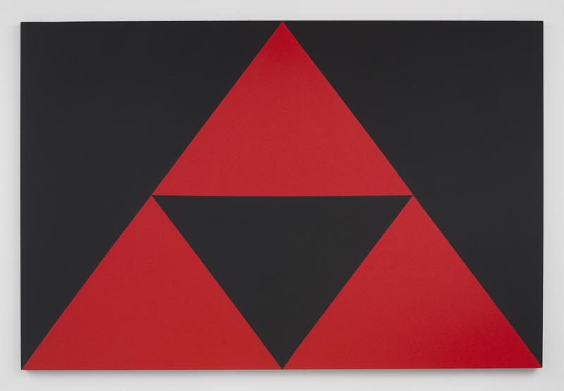 Carmen Herrera, 3 Red Triangles, 2016 Acrylique sur toile 182,9 × 121,9 cm Collection privée, Texas © Carmen Herrera. Courtesy Lisson Gallery. Photo © Adam Reich