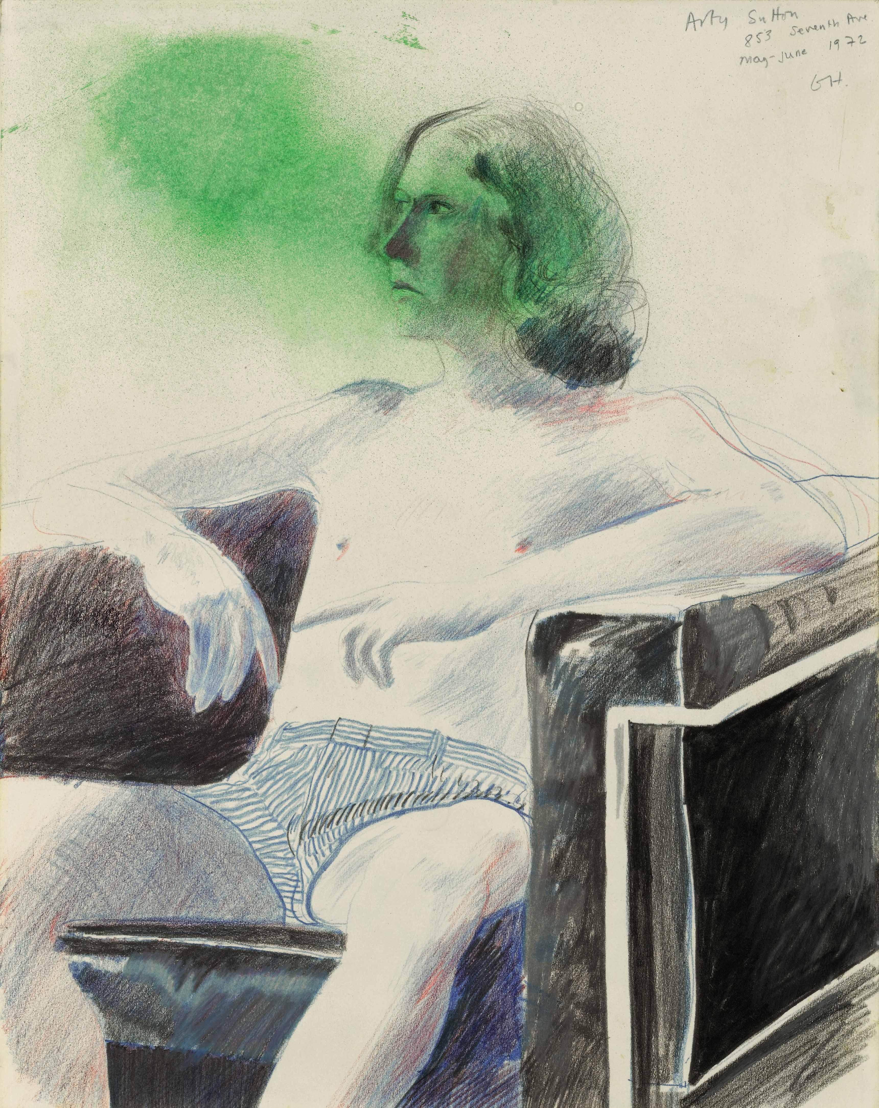 DAVID HOCKNEY ARTY SUTTON, 1972 Estimate : 80,000 - 120,000 EUR