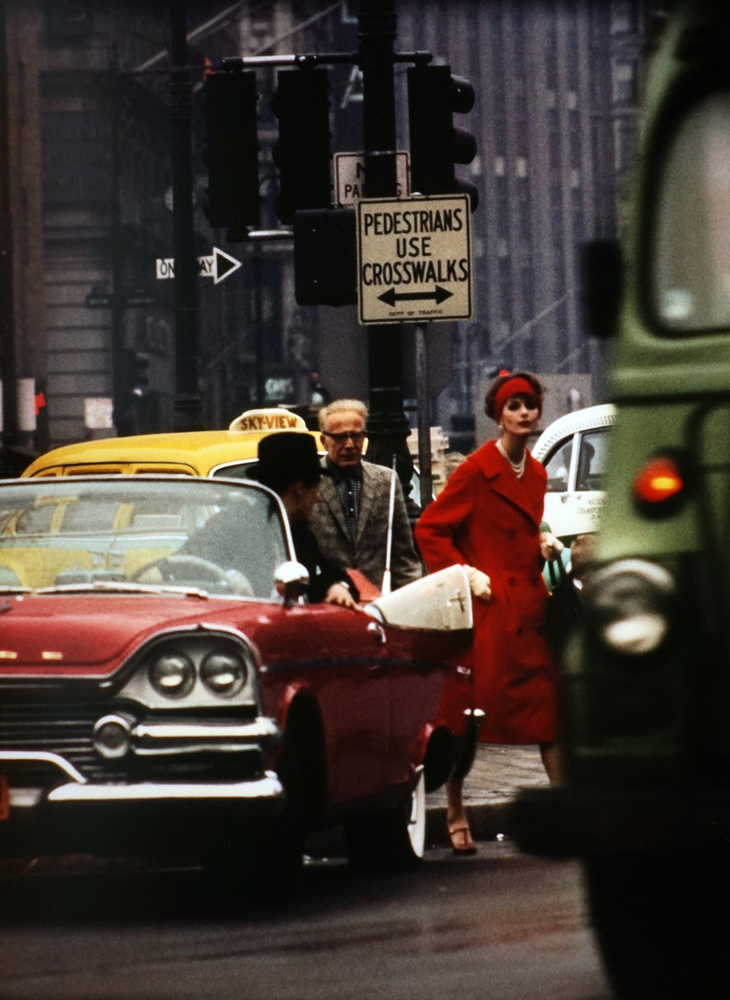 "William Klein, ""Cruiser + Anne St. Marie"", New York (1962). Chromogenic print, printed later. 45.4 x 31.8 cm"