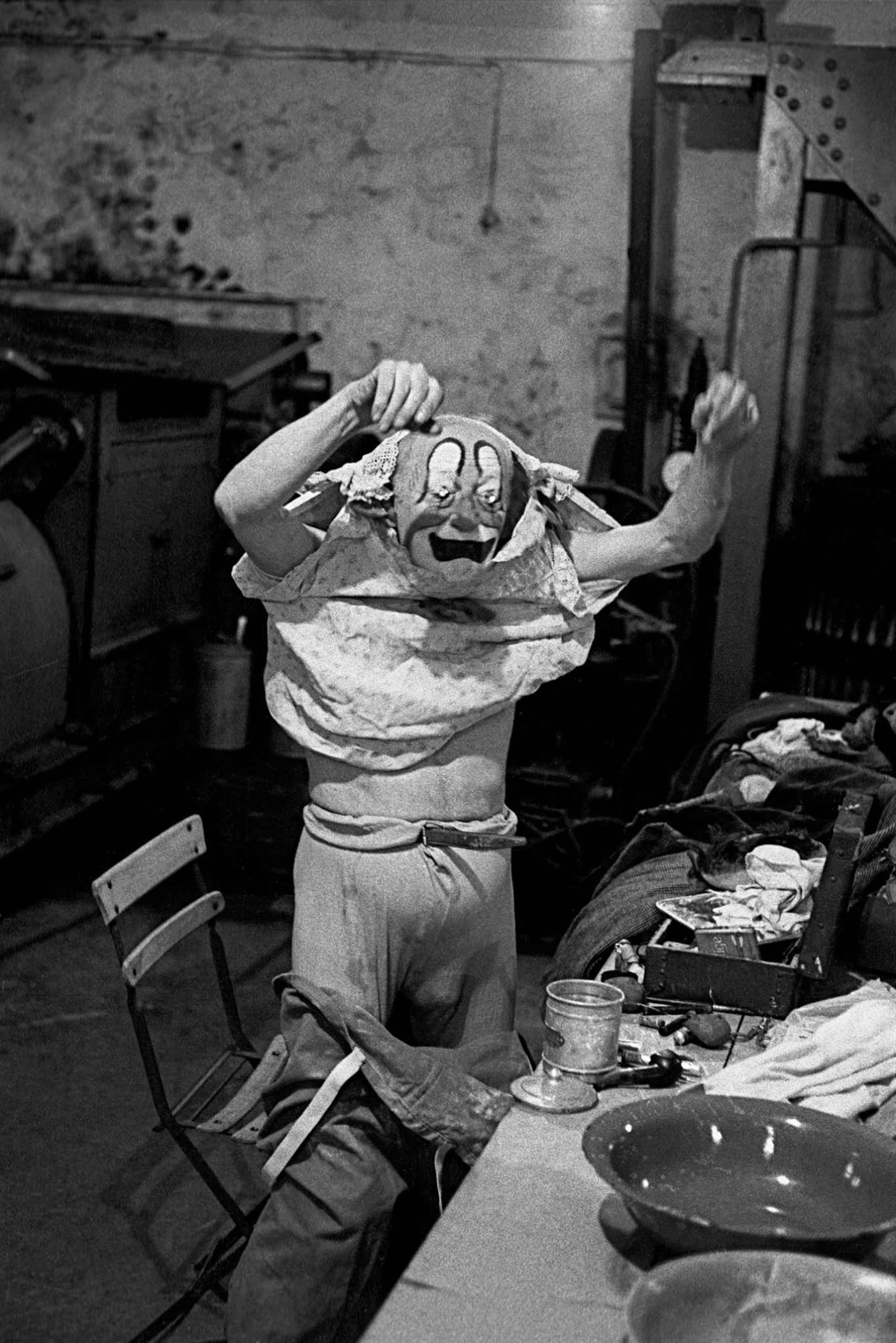 Frank Horvat, Alberto Fratellini, Clown (1959). 35x25 cm