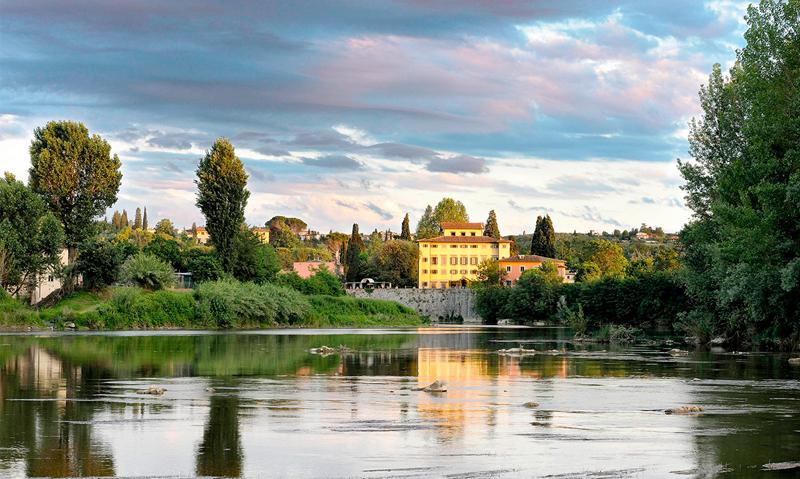 La villa Massa située sur les bords de l'Arno à quelques kilomètres de Florence.