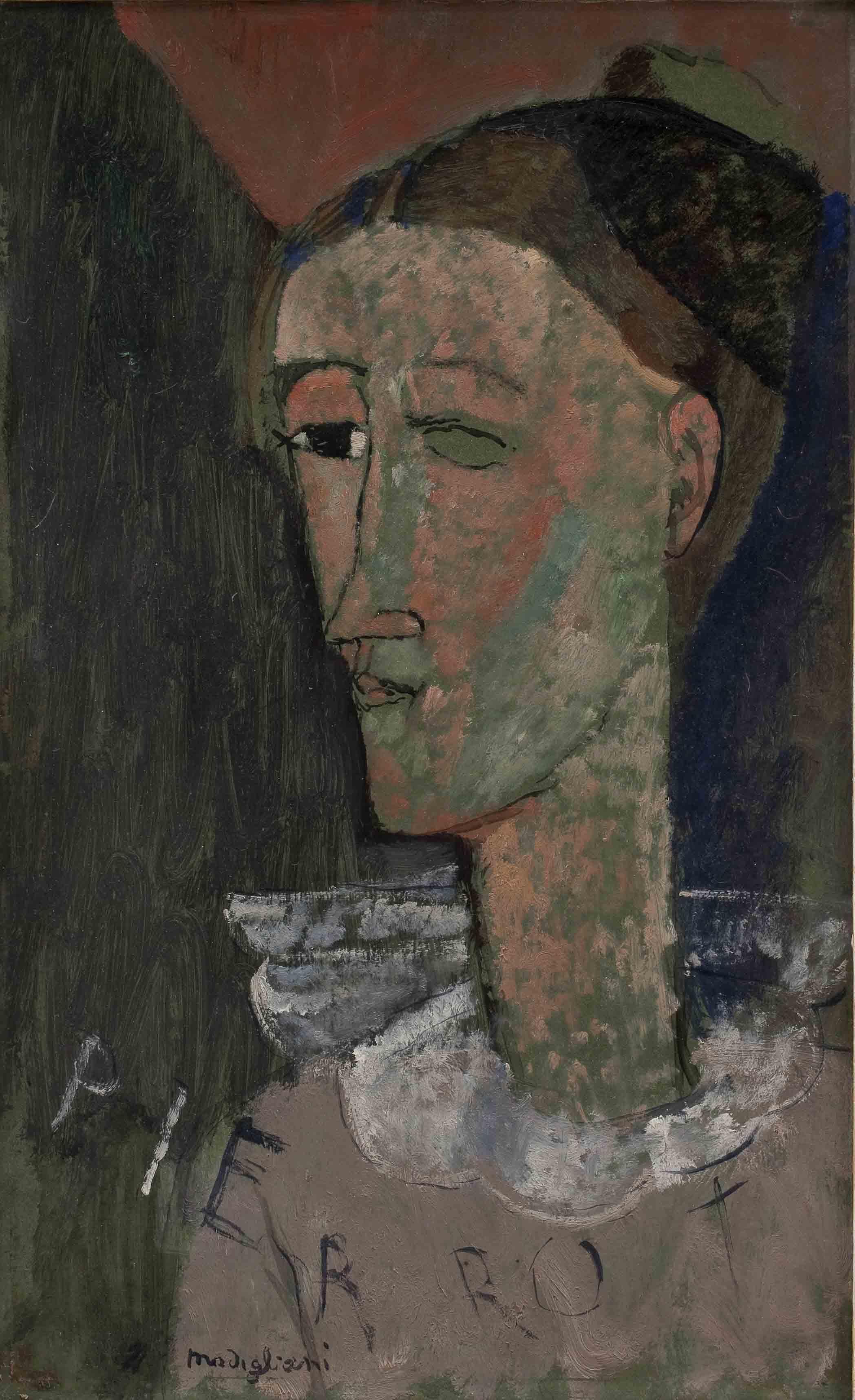 Self Portrait as Pierrot, 1915