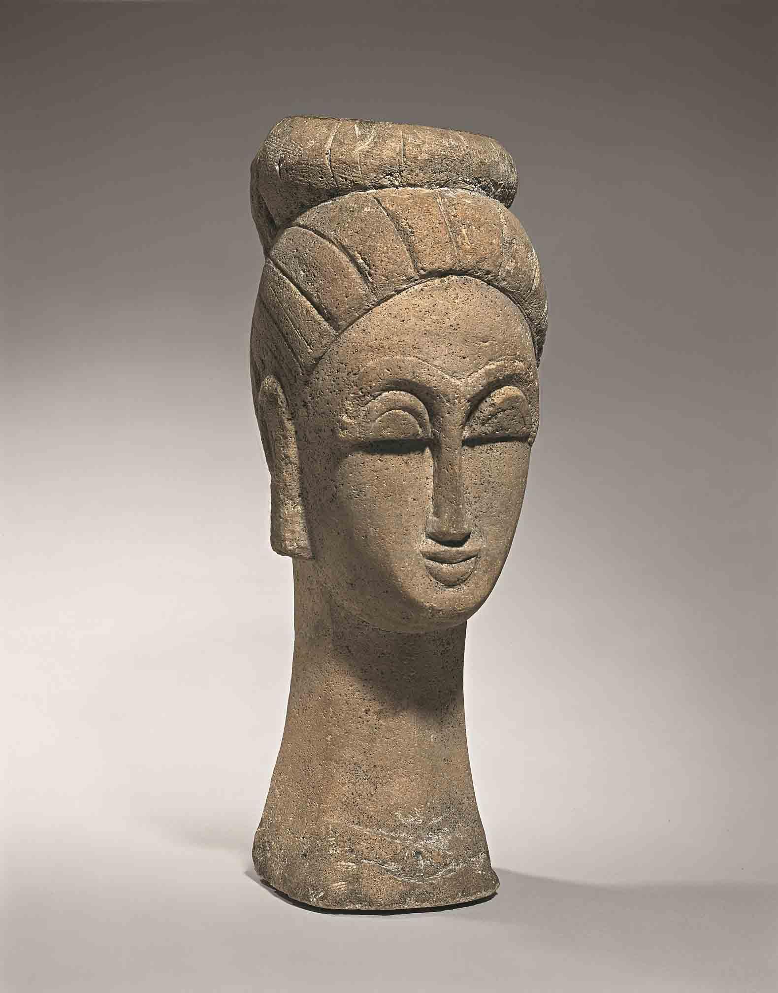 Woman's Head (With Chignon), 1911-12