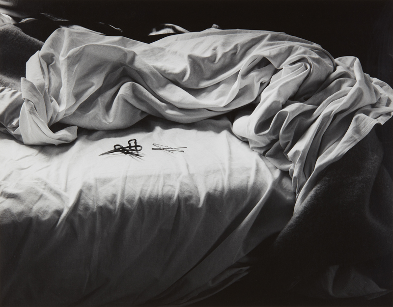 "Imogen Cunningham ""The Unmade Bed"" 1957 Gelatin silver print, printed later. 10 5/8 x 13 1/2 in. (27 x 34.3 cm)"