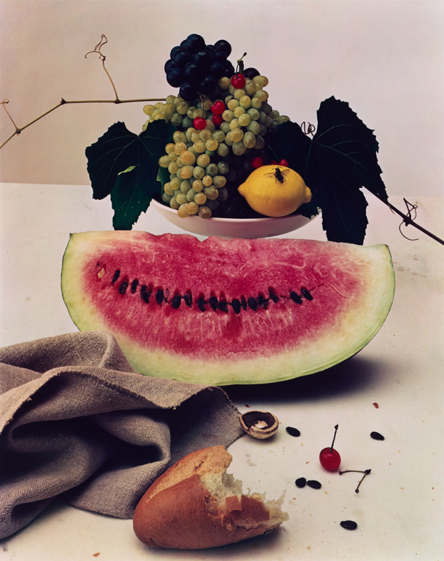 "Irving Penn, ""Still Life with Watermelon"" New York (1947) © Condé Nast"