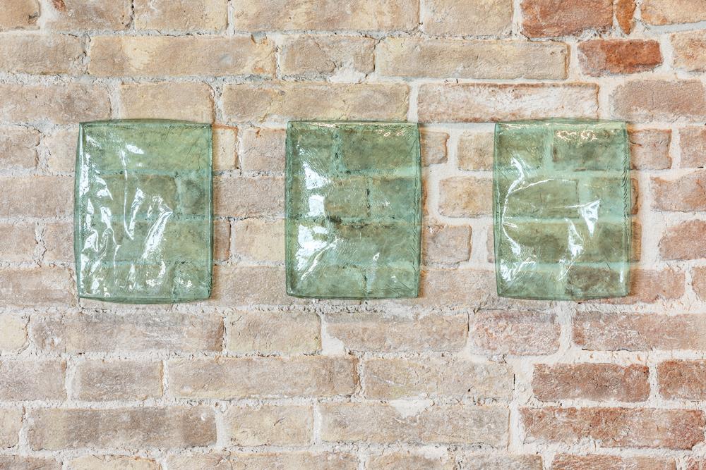 """Edith Dekyndt, """"Winter Drums 06 B (Tryptic)"""" (2017), Pinault Collection. Installation view """"Luogo e segni"""" at Punta della Dogana, 2019 © Palazzo Grassi, photography Delfino Sisto Legnani e Marco Cappelletti."""