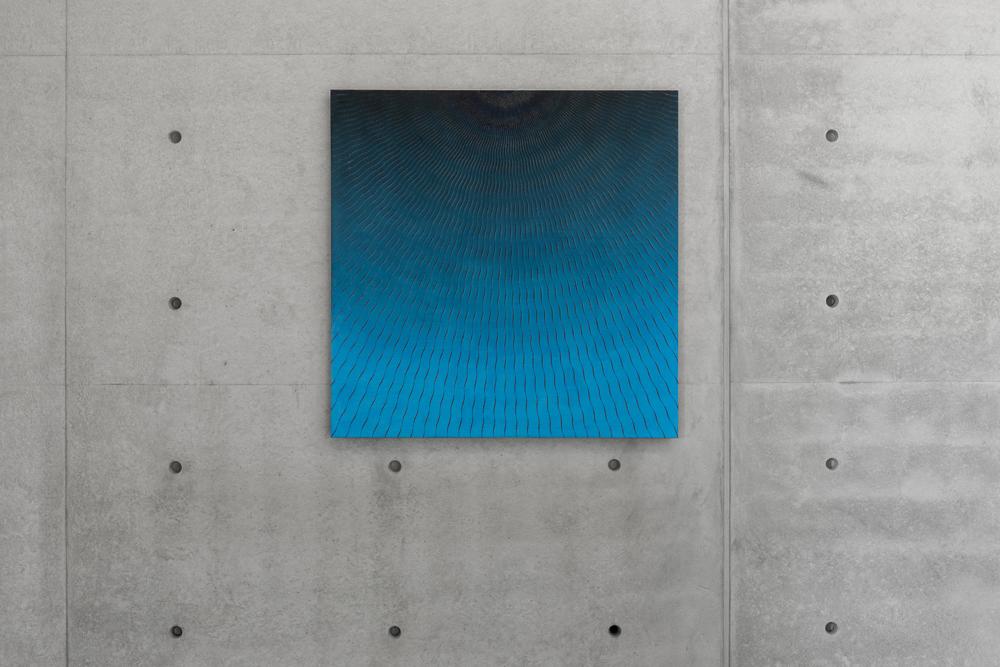 """R. H. Quaytman, """"חקק , Chapter 29"""" (2015), Pinault Collection. Installation view """"Luogo e segni"""" at Punta della Dogana, 2019 © Palazzo Grassi, photography Delfino Sisto Legnani e Marco Cappelletti."""