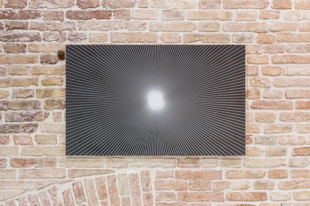 """R. H. Quaytman, """"Spine, Chapter 20"""" (2010), Pinault Collection. Installation view """"Luogo e segni"""" at Punta della Dogana, 2019 © Palazzo Grassi, photography Delfino Sisto Legnani e Marco Cappelletti."""