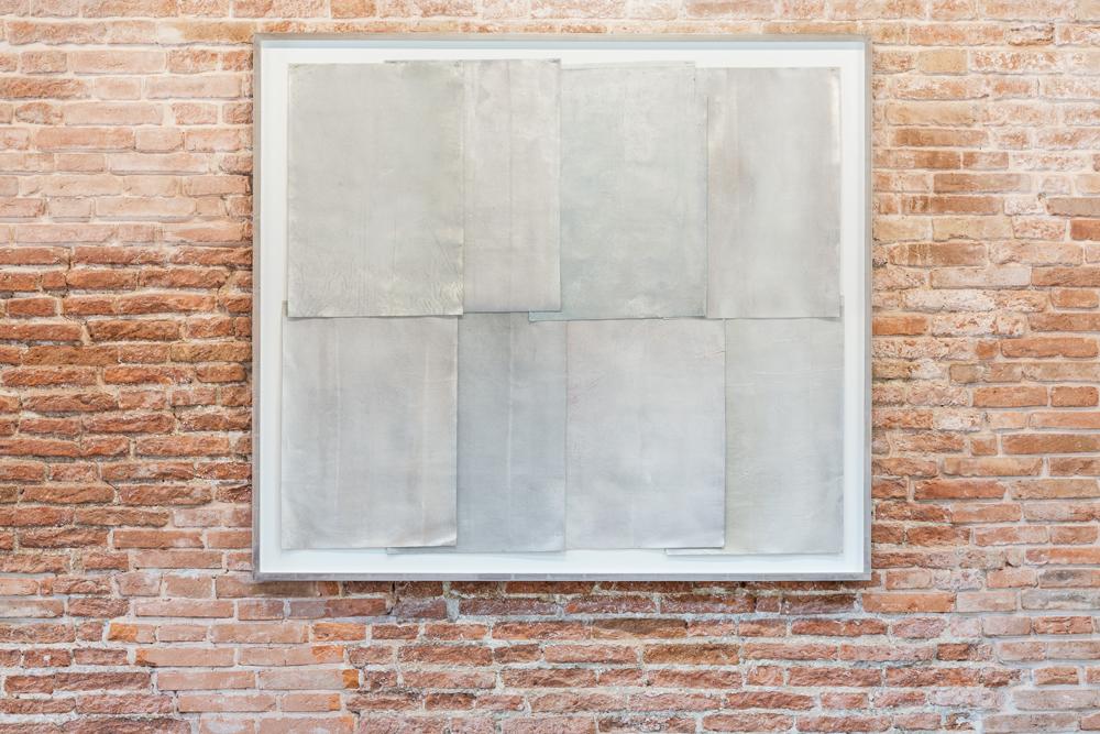 """Rudolf Stingel, """"Untitled"""" (1990), Pinault Collection. Installation view """"Luogo e segni"""" at Punta della Dogana, 2019 © Palazzo Grassi, photography Delfino Sisto Legnani e Marco Cappelletti."""