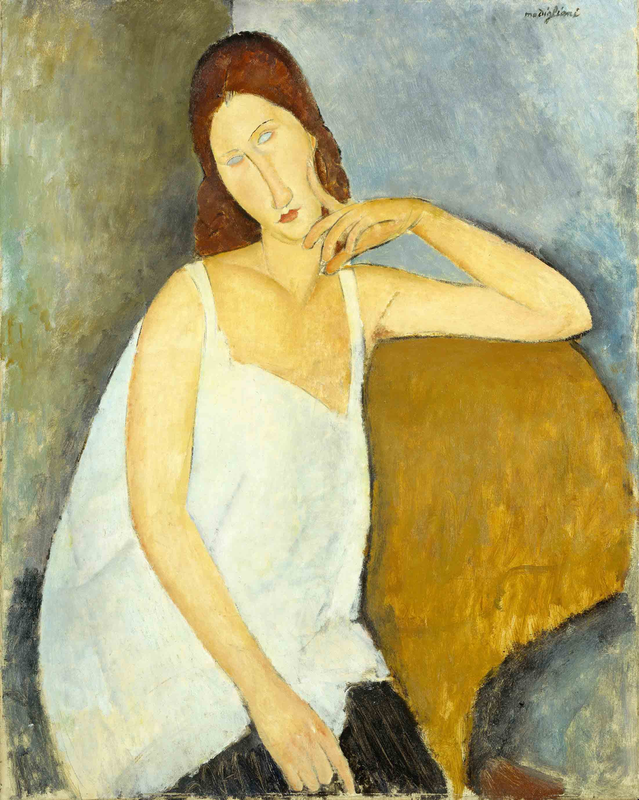 Amedeo Modigliani 1884 - 1920 Jeanne Hébuterne 1919 Medium Oil paint on canvas 914 x 730 mm The Metropolitan Museum of Art, New York