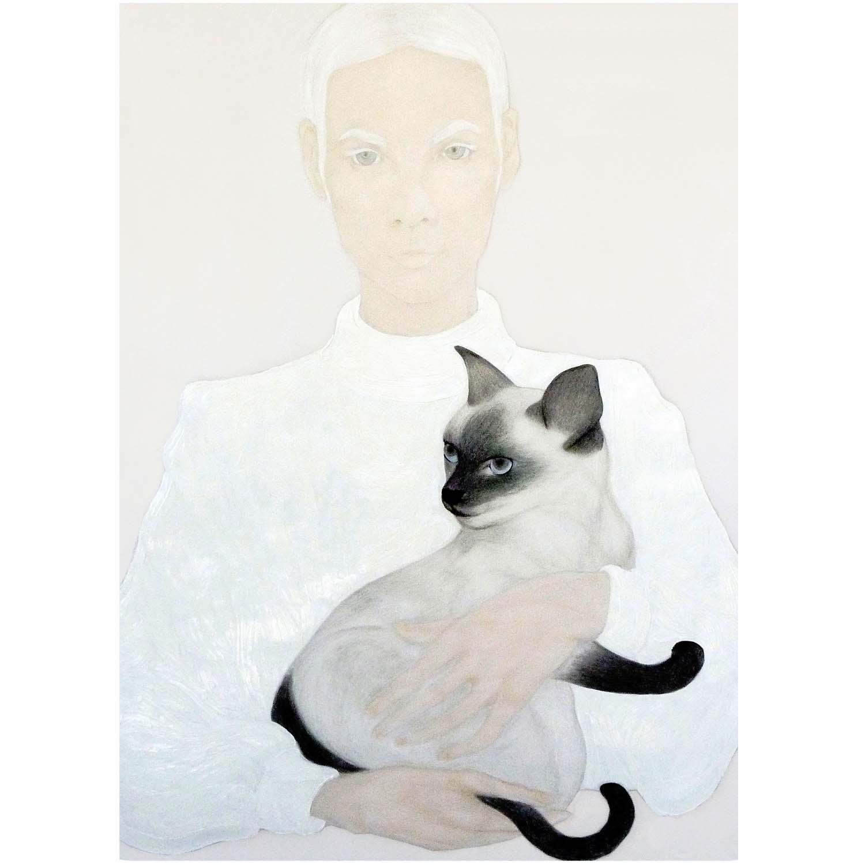 """""""Fate"""" (2014), huile sur papier transparent, 91 x 122 cm. Courtesy of the artist."""
