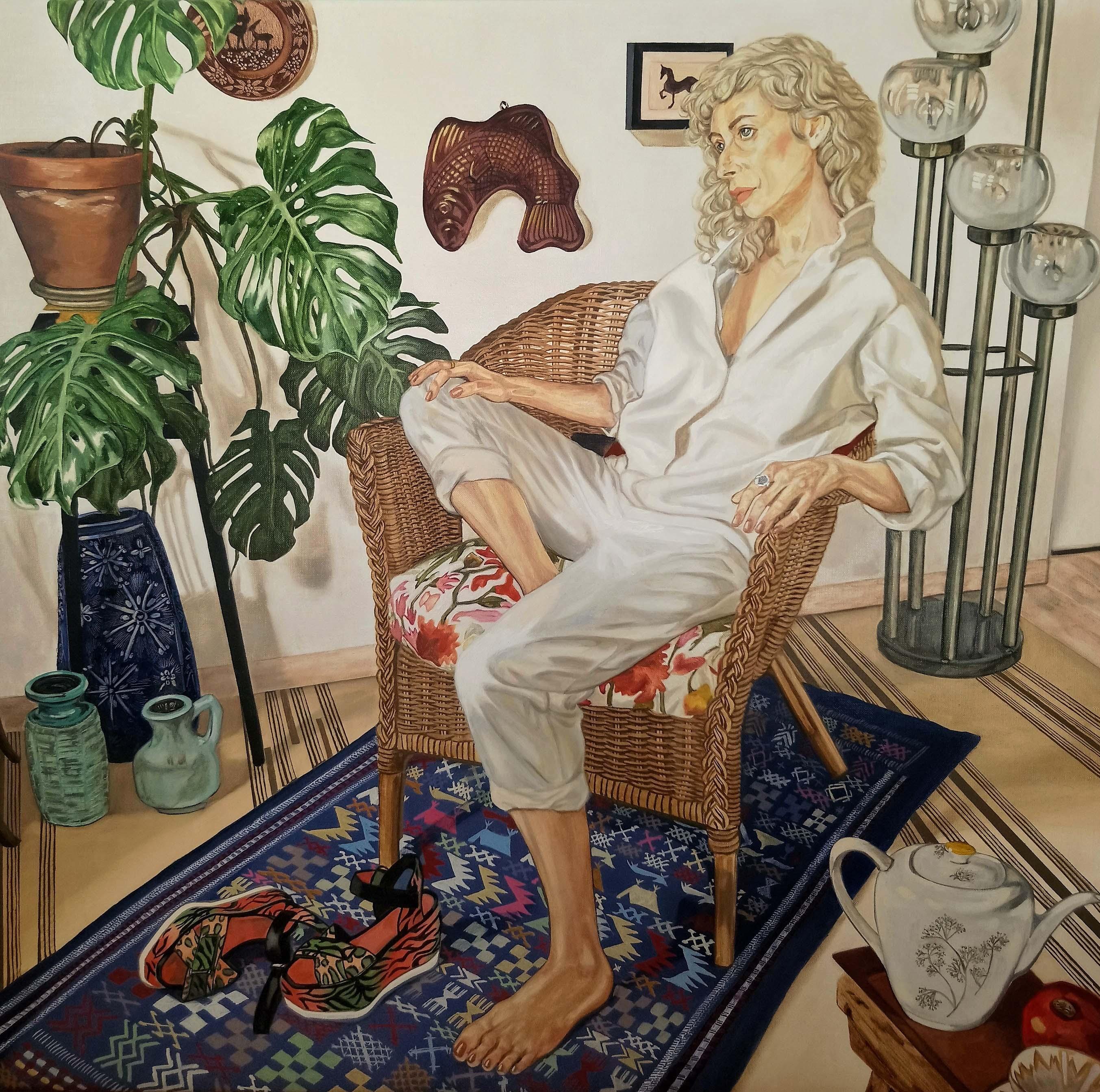 """A Portrait of Sonia"" (2020), huile sur lin, 100 x 100 cm. Courtesy of the artist."