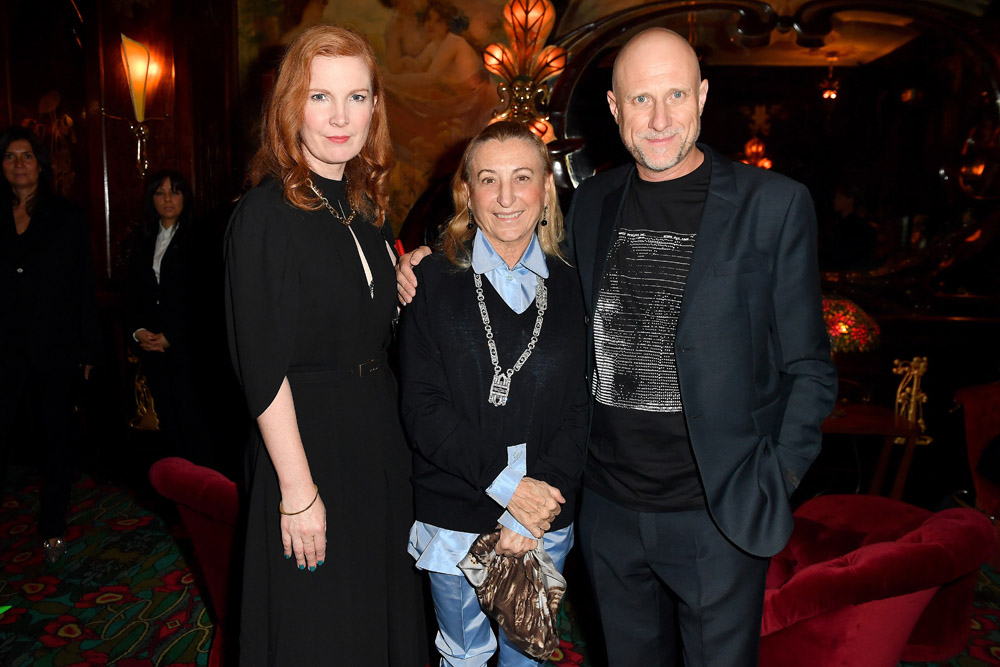 Kate Crawford, Miuccia Prada and Trevor Paglen © Jacopo Raule/Getty Images for Prada