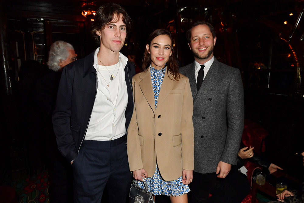 Orson Fry, Alexa Chung, Derek Blasberg © Jacopo Raule/Getty Images for Prada