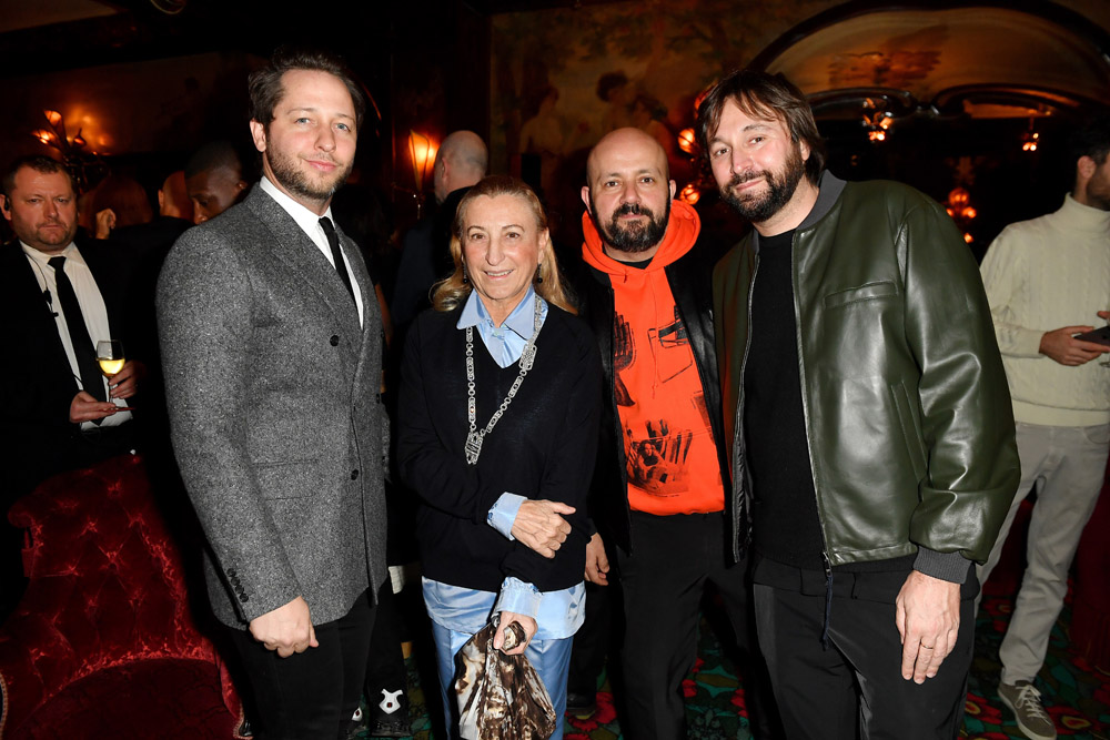 Derek Blasberg, Miuccia Prada, Michael Amzalag et Francesco Vezzoli © Jacopo Raule/Getty Images for Prada