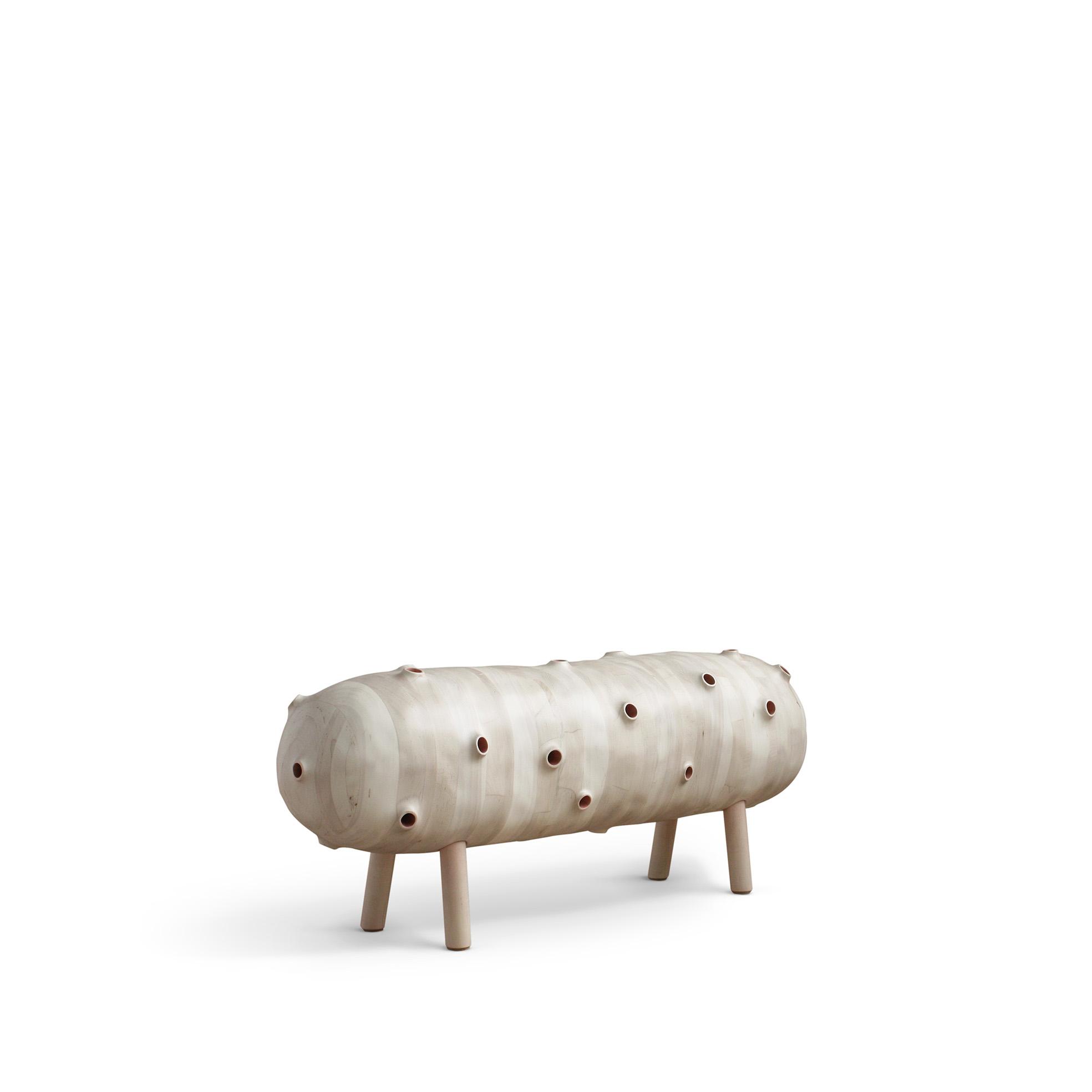 "Julian Watts, United States ""Bench"", maple wood, 330 x 1244 x 482 mm (2017)"