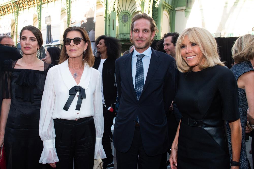 Charlotte Casiraghi, H. R. H. La princesse d'Hanovre, Andrea Casiraghi et Brigitte Macron