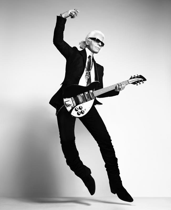 Karl Lagerfeld photographed by Jean-Baptiste Mondino