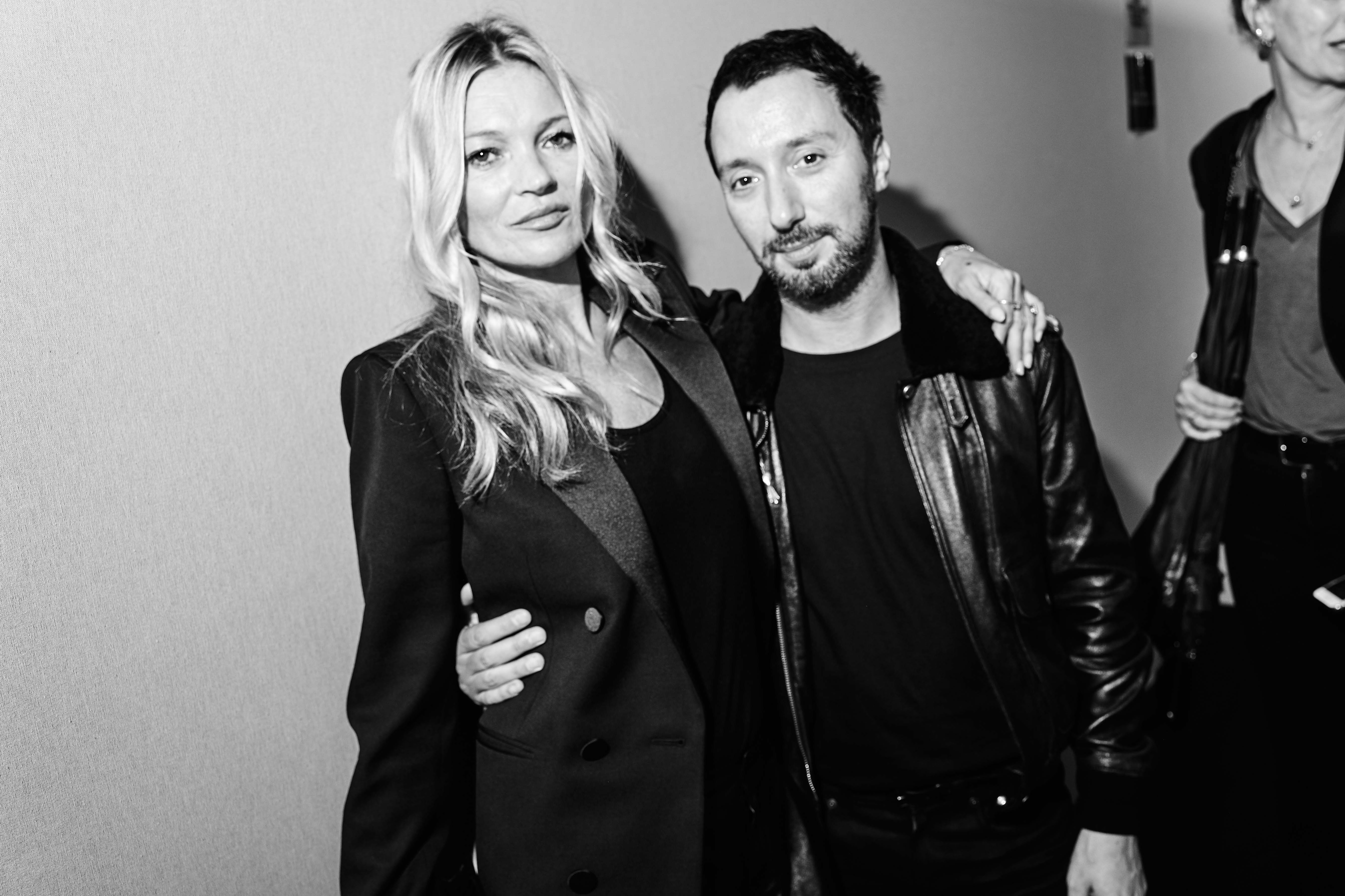 Kate Moss et Anthony Vaccarello