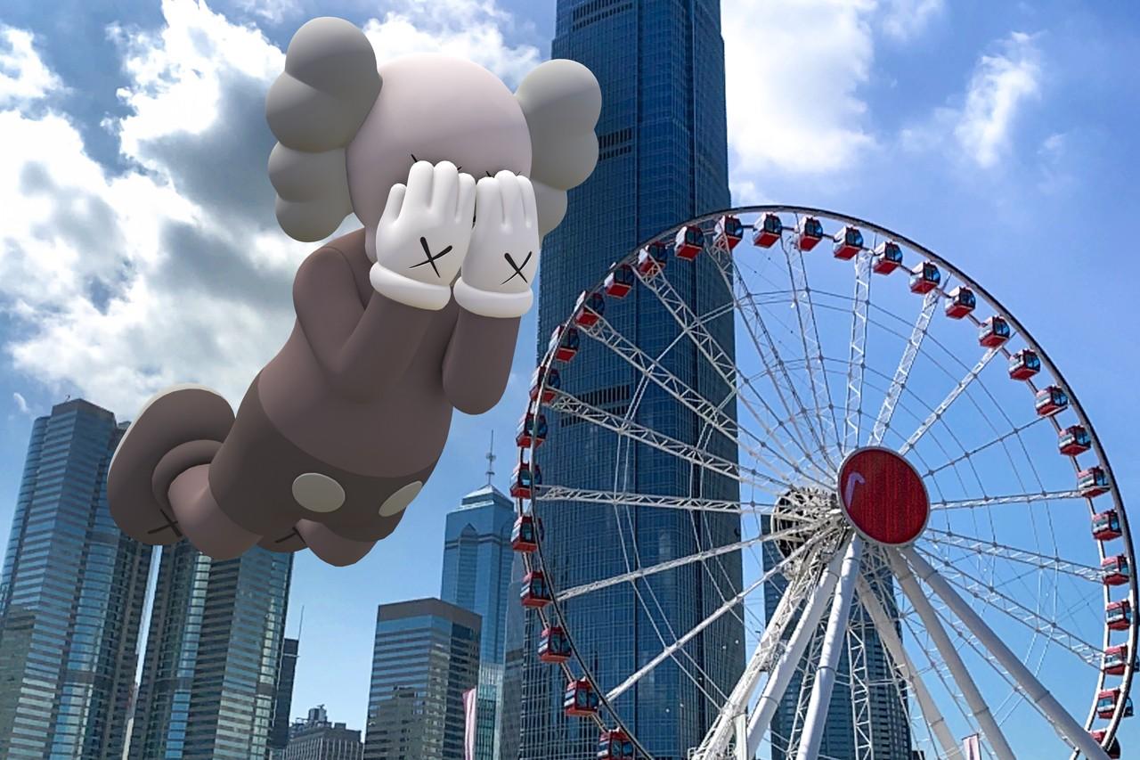 Observation Wheel, Hong Kong. Image courtesy of Kaws and Acute Art