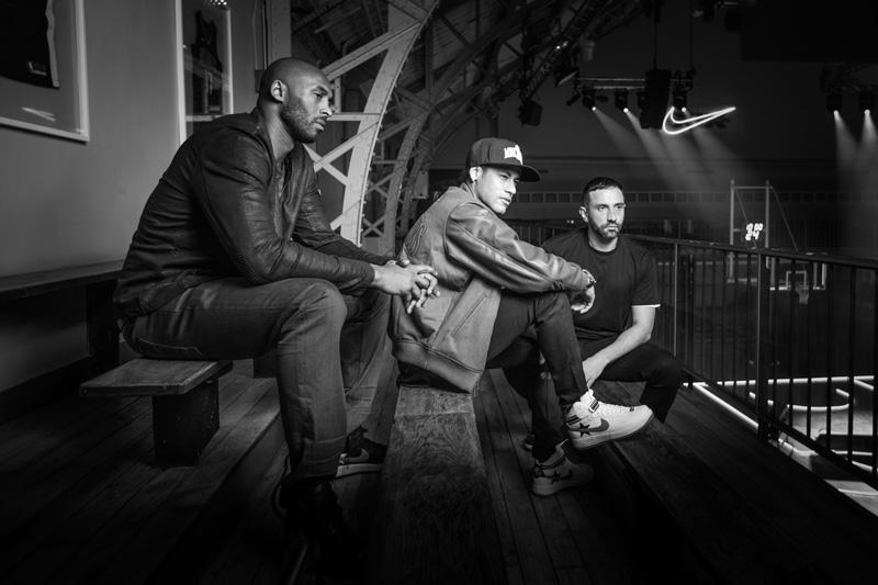 Kobe Bryant, Neymar Jr et Riccardo Tisci