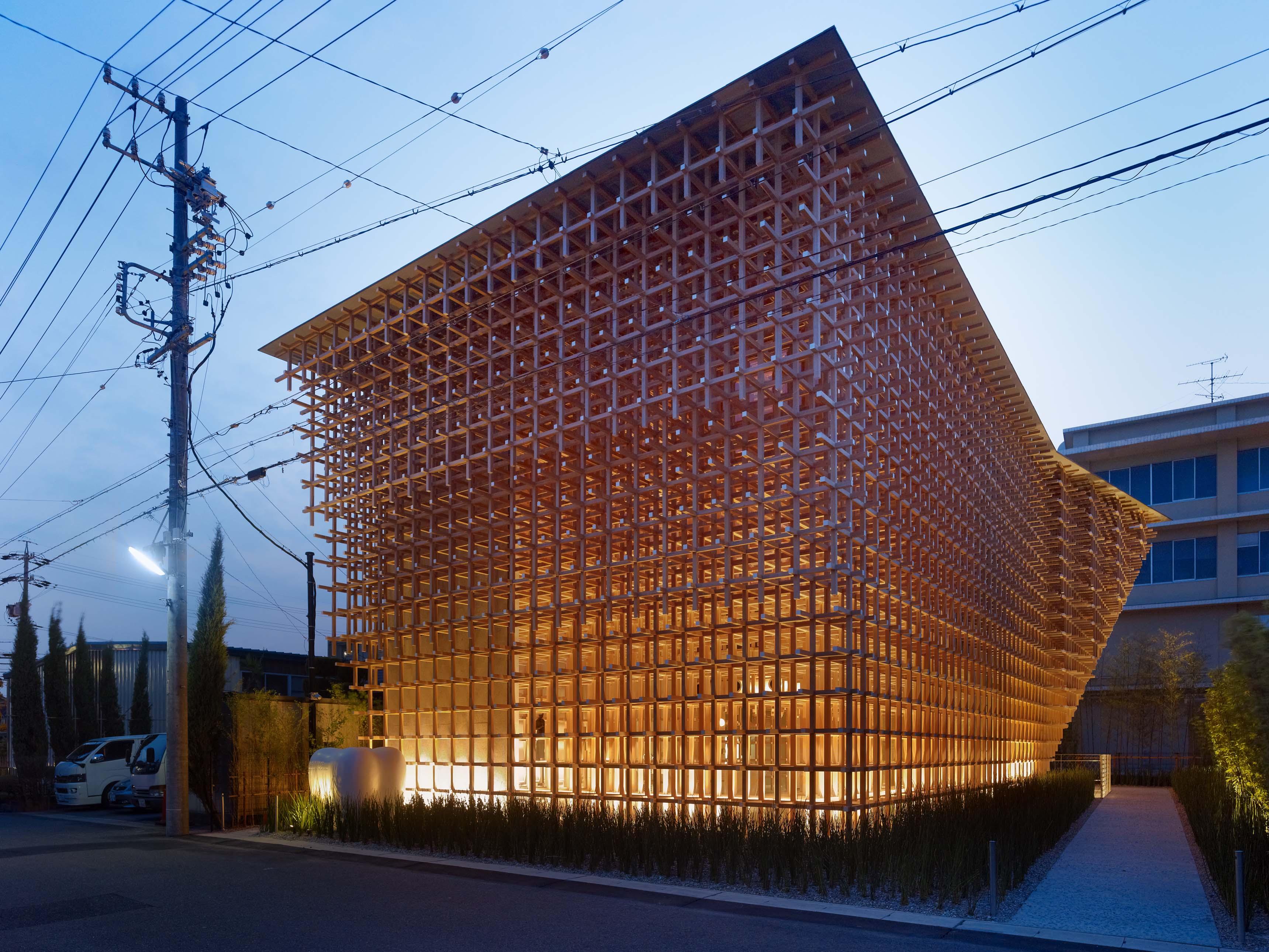 Kengo Kuma, GC Prostho Museum Reasearch Center, Kasugai-shi, Japon