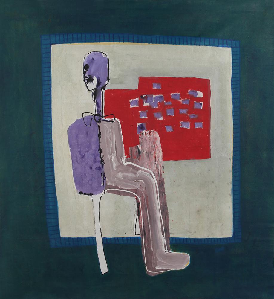 """Amadou Sanogo, """"La solitude"""", 2014 Acrylique sur toile 204x186 cm Signé et daté. Courtesy of Galerie MAGNIN-A, Paris."""