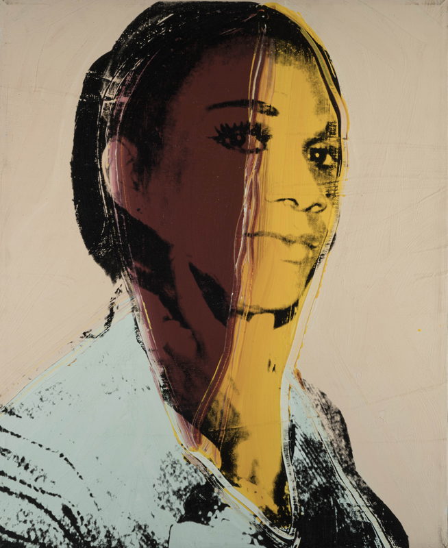 Andy Warhol (1928 – 1987) Ladies and Gentlemen (Alphanso Panell) 1975 Acrylic paint and silkscreen ink on canvas 813 x 660 mm Italian private collection © 2019 The Andy Warhol Foundation for the Visual Arts, Inc / Artists Right Society (ARS), New York and DACS, London