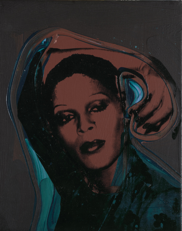 Andy Warhol (1928 – 1987) Ladies and Gentlemen (Iris) 1975 Acrylic paint and silkscreen ink on canvas 356 x 279 mm Italian private collection © 2019 The Andy Warhol Foundation for the Visual Arts, Inc / Artists Right Society (ARS), New York and DACS, London