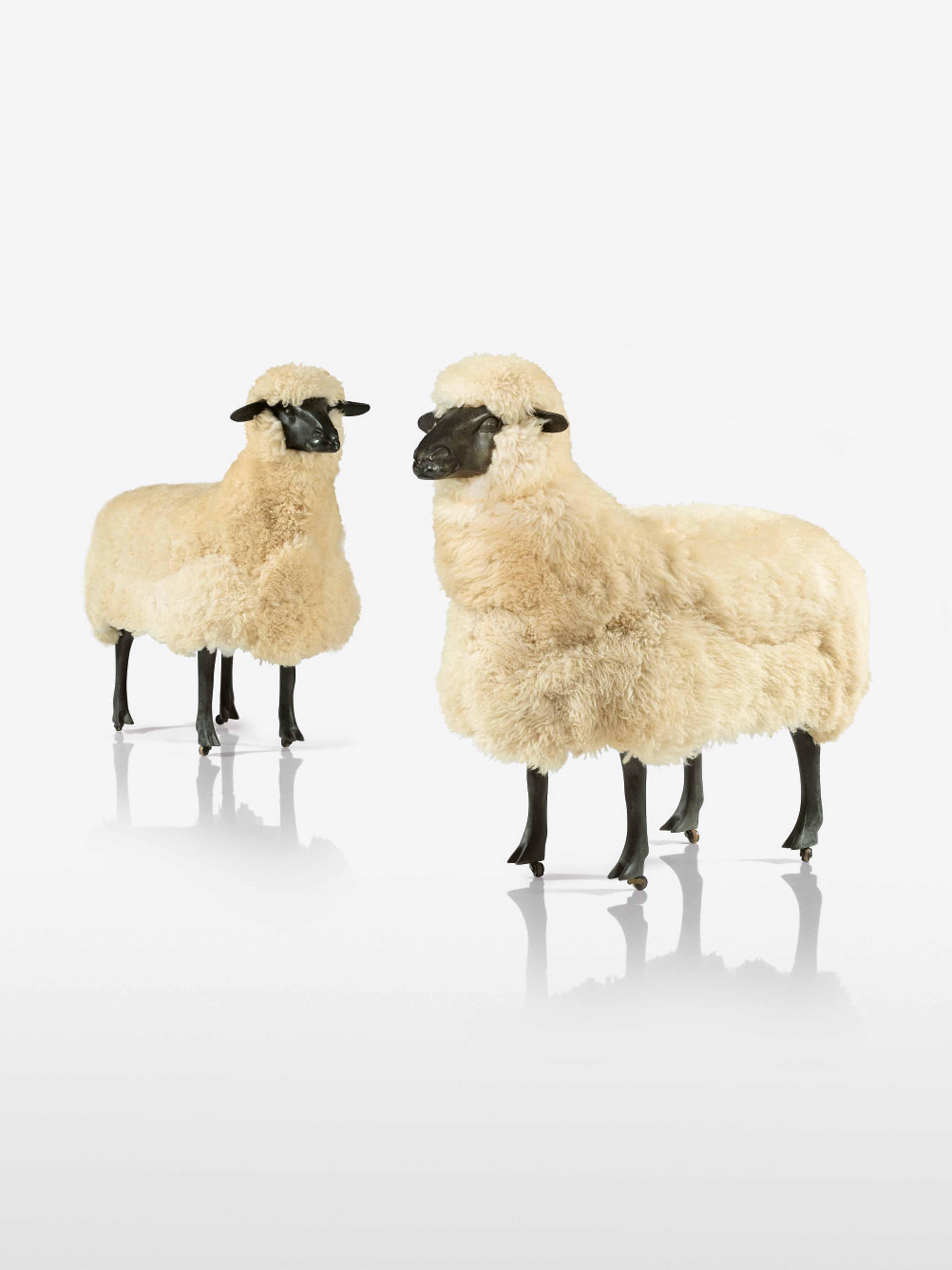FRANCOIS-XAVIER LALANNE Deux moutons de laine, 1969 Estimate: 500,000 - 700,000 - EUR