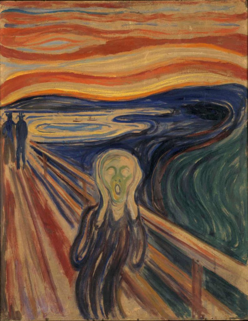 """Edvard Munch, """"Le Cri"""" (1910), collection du Munch Museum, Oslo. Courtesy of Wikimedia Commons."""