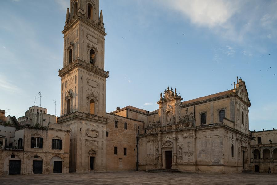 Lecce dans la région des Pouilles en Italie