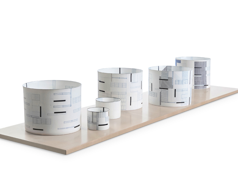 Bodil Manz,  'Fence', porcelain, varying dimensions, (most) 230 x 230 x 180 mm. 2019