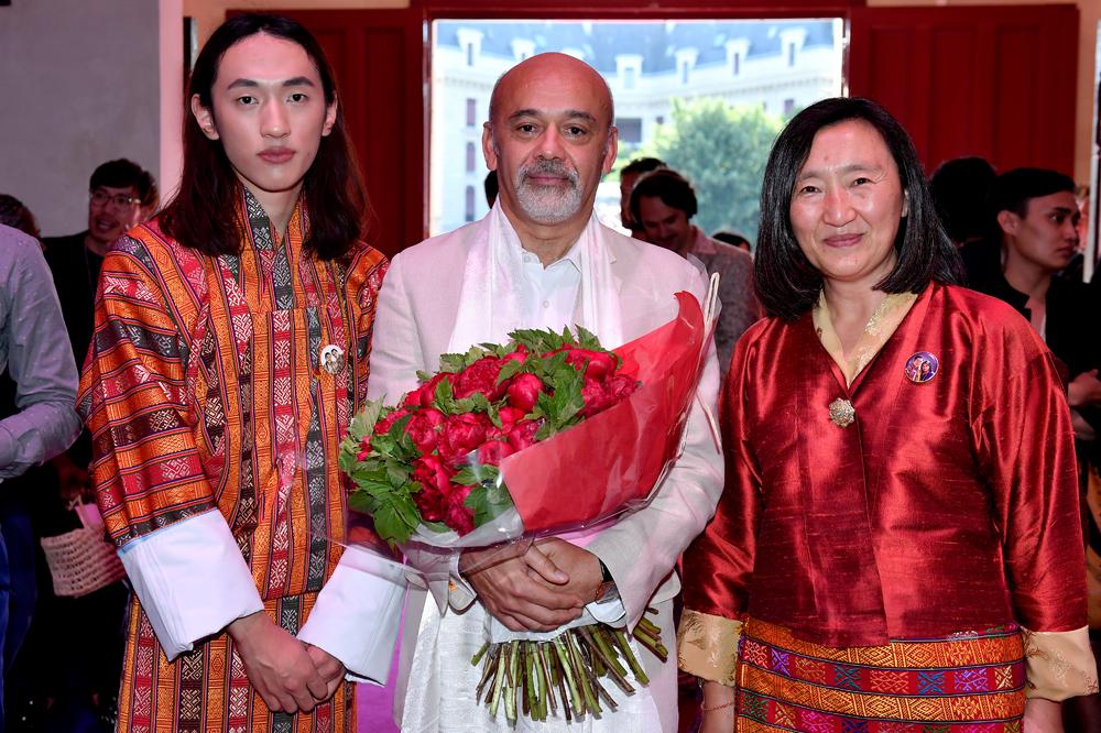 Jigme Namgyal, Christian Louboutin et Pema Choden