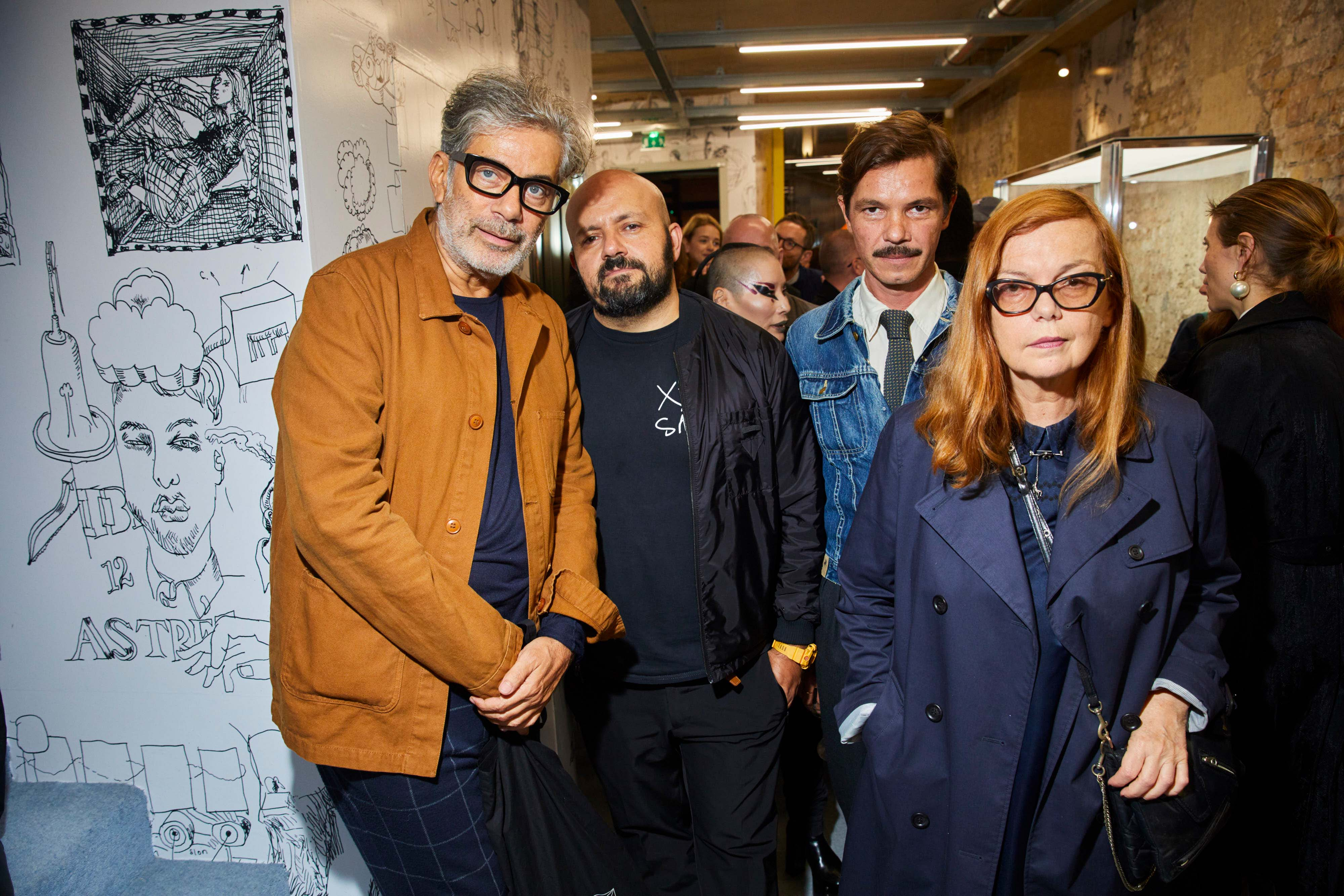 Marc Ascoli, Michael Amzalag, Elie Top et Martine Sitbon