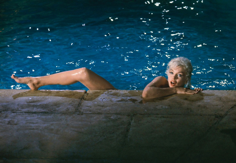 """Marilyn Monroe, tournage de """"Something's Got to Give"""", Hollywood, mai 1962, Lawrence Schiller"""