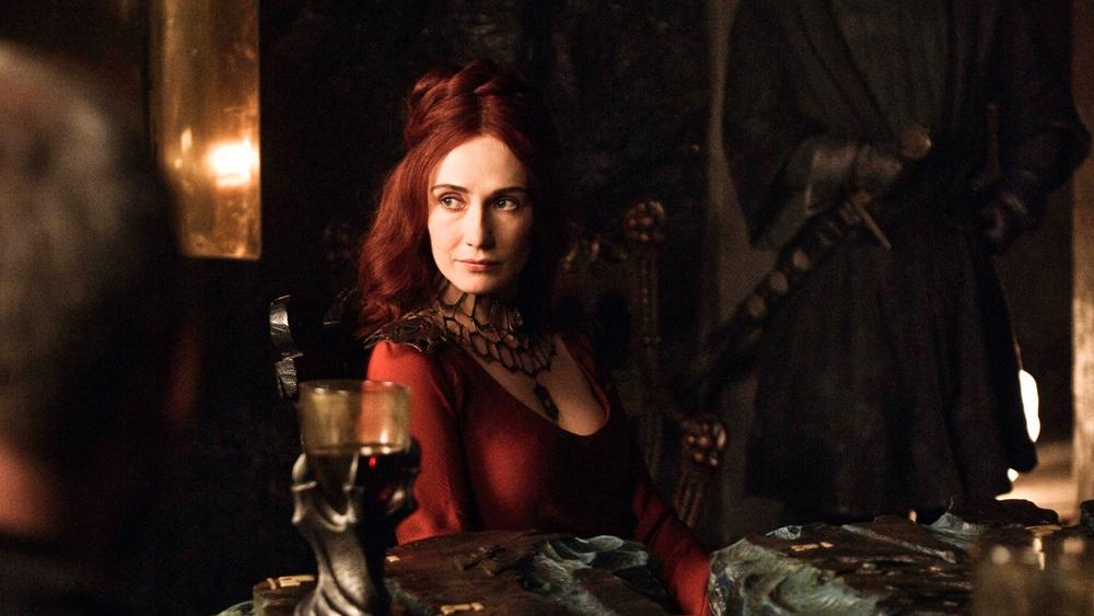 Melisandre in Game of Thrones.