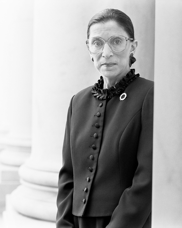 Michael O'Neill Ruth Bader Ginsburg, Supreme Court, D.C., November 1 1998 Gelatin silver print. 22 7/8 x 18 1/4 in. (58.1 x 46.4 cm)
