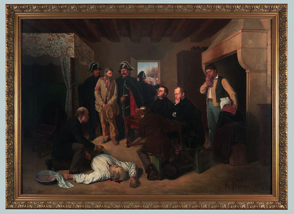 Une descente de justice, Alexandre Bonnin de Fraysseix, vers 1884, huile sur toile musée de la Roche-sur-Yon.