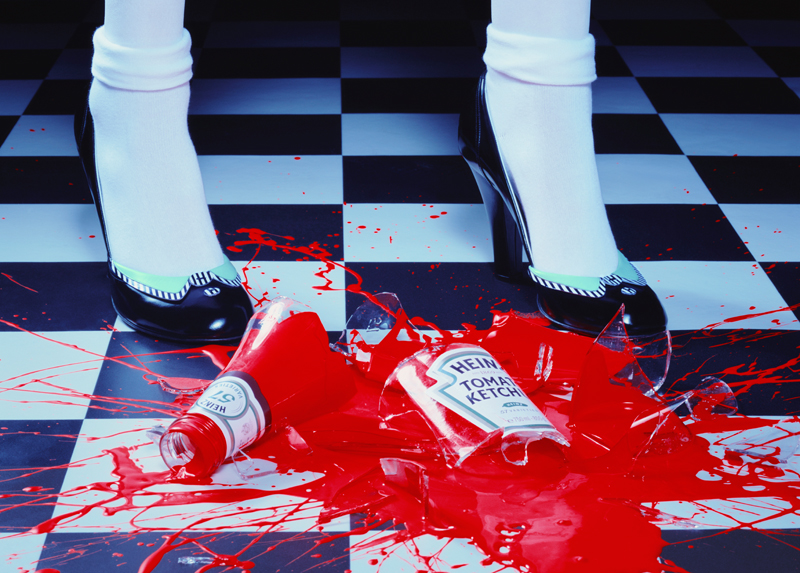 """A Drop of Red #2"", 2001, Miles Aldridge, courtesy of Huxley-Parlour Gallery"