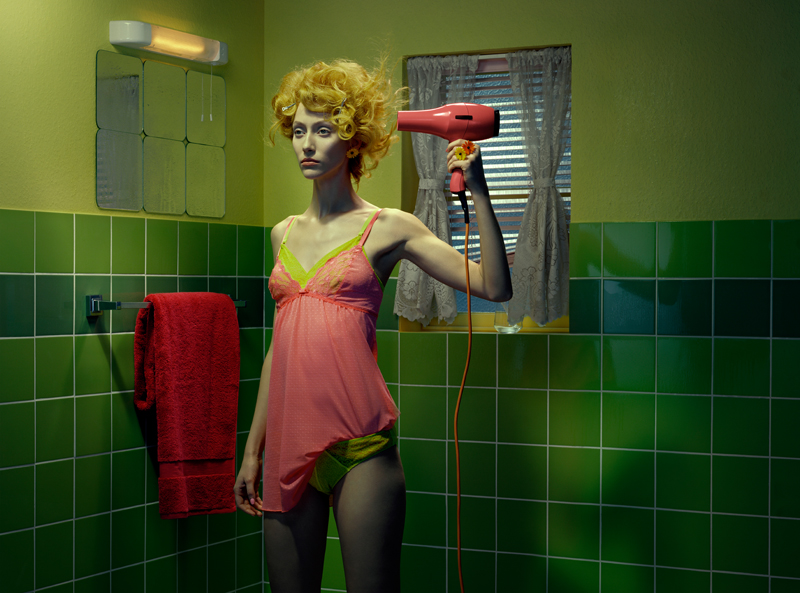 """Chromo Thriller #3"", 2001, Miles Aldridge, courtesy of Huxley-Parlour Gallery"