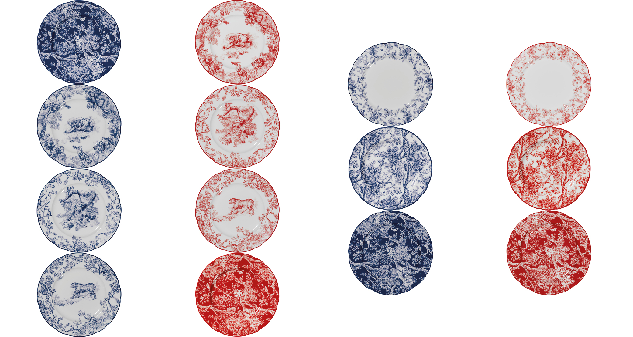 Assiettes de la collection toile de Jouy par Dior