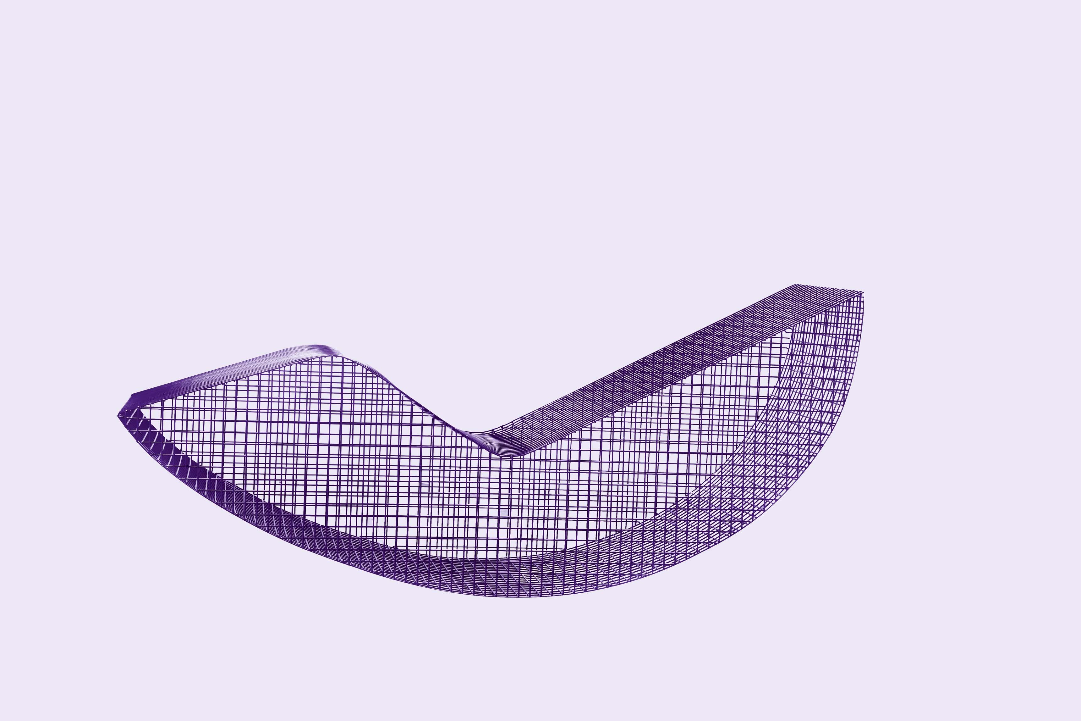 WireS#6 de Muller Van Severen (2016). Chaise longue en Inox laqué. Éditée par la Solo Galerie