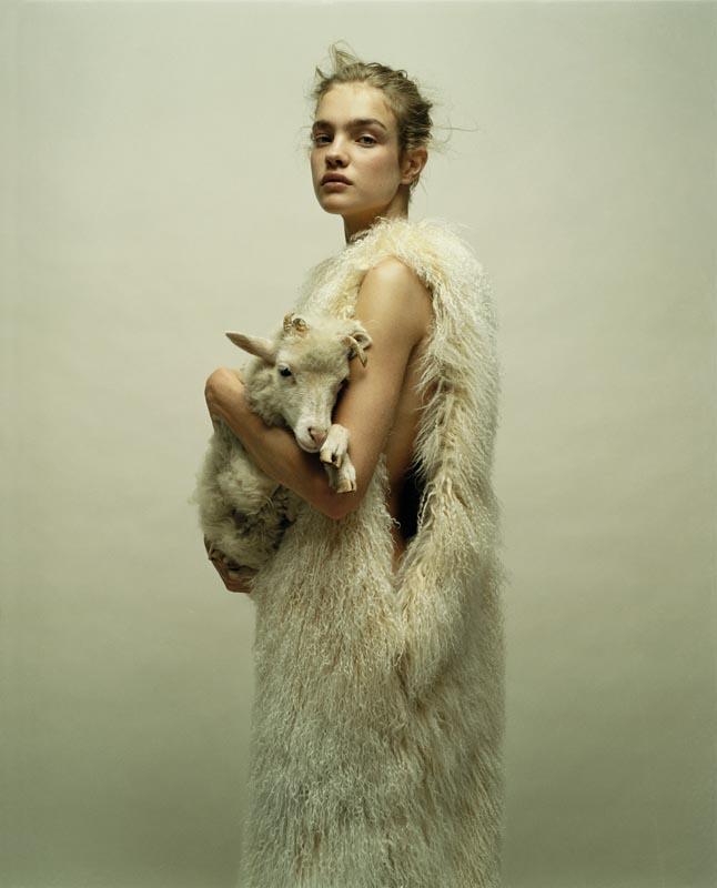 Natalia Vodianova photographiée par Jean-Baptiste Mondino
