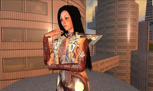 Cao Fei. Still from RMB City: A Second Life City Planning (2007), which featured a 3d model of the city prior to its opening in Second Life.