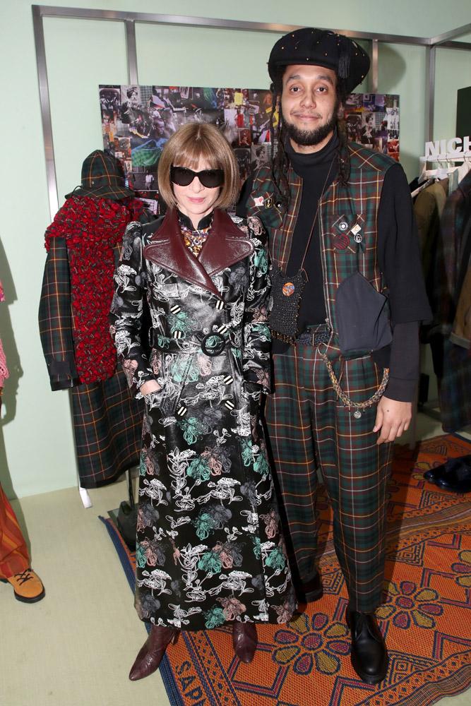 Nicholas Daley et Anna Wintour