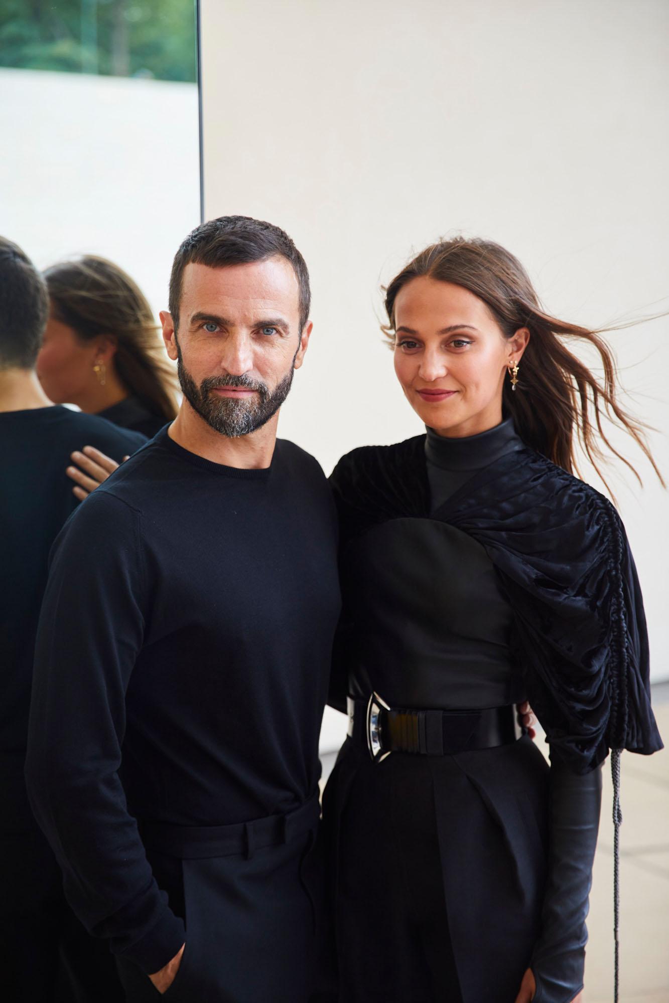 Nicolas Ghesquière et Alicia Vikander