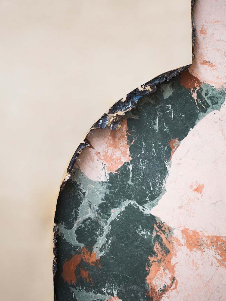 """""""Hubert Mirror"""", Roberto Sironi, casted bronze and marmo artificiale di Rima, 103 x 130 x 25 cm. Chez Carwan Gallery."""